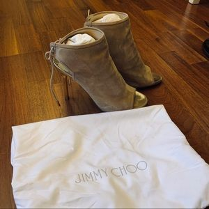 Jimmy Choo suede heeled boots size 36.5